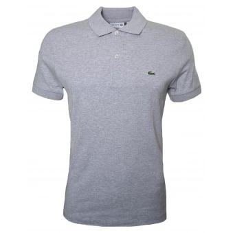 Lacoste Mens Regular Fit Grey Polo Shirt