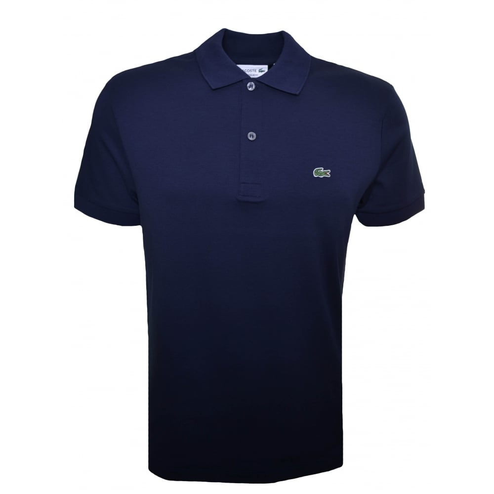 372e84114ca5dd Lacoste Mens Regular Fit Navy Blue Polo Shirt