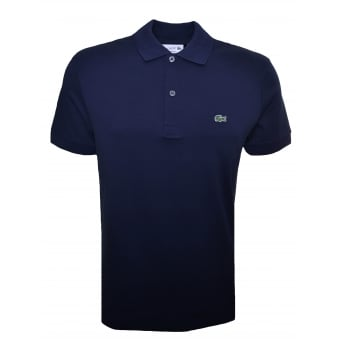 Lacoste Mens Regular Fit Navy Blue Polo Shirt