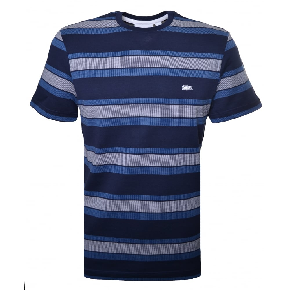 938b5b2176ec Lacoste Men  039 s Regular Fit Navy Blue T-Shirt