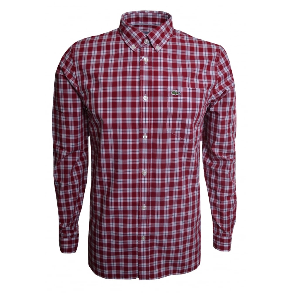 085dac66ae Regular Fit Red Check Long Sleeved Shirt