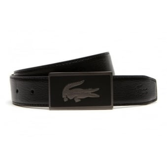 Lacoste Men's Reversible Belt Gift Set Black/Brown