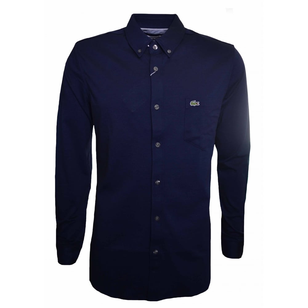 Black Lacoste Mens Longsleeved T-Shirt