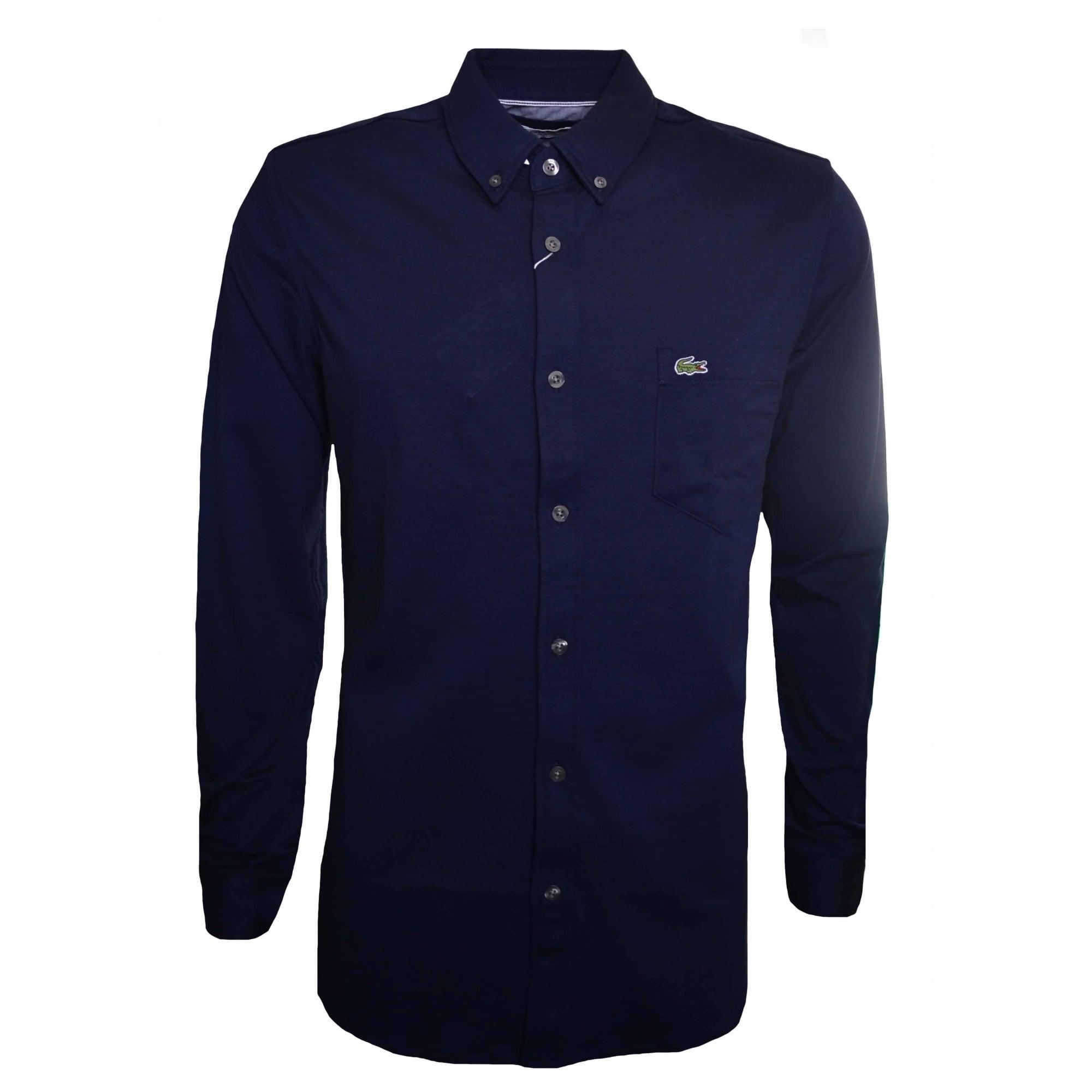 Navy // Blue Lacoste Mens Check Shirt