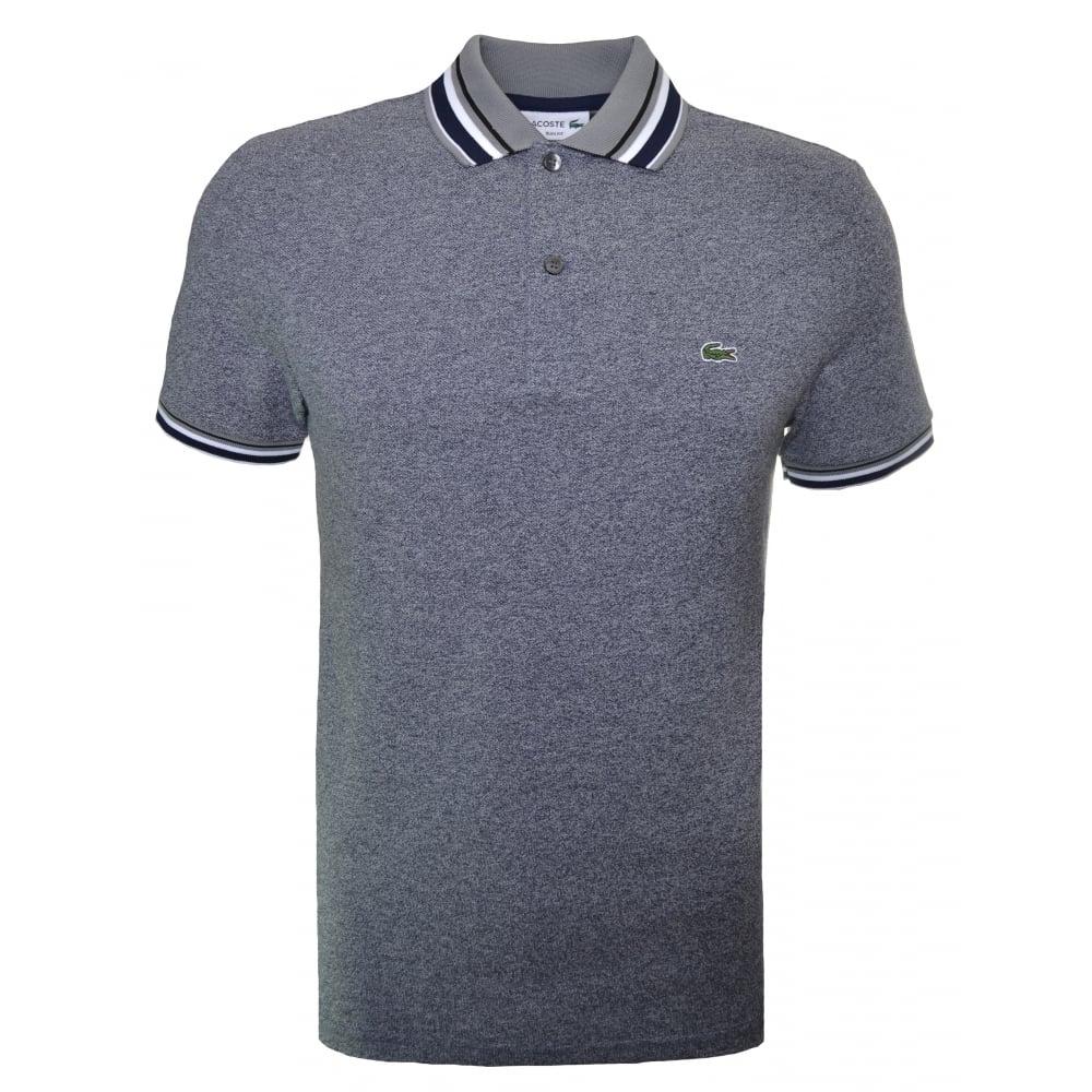 d140973f Lacoste Men's Lacoste Men's Slim Fit Grey Marl Polo Shirt