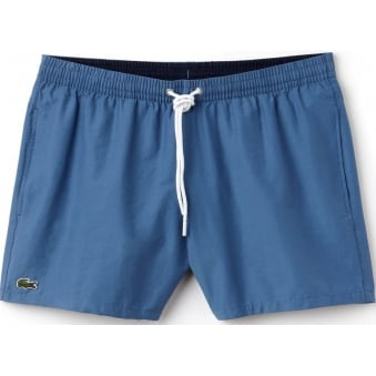 Lacoste Mens Taffetta King Blue Swimming Trunks