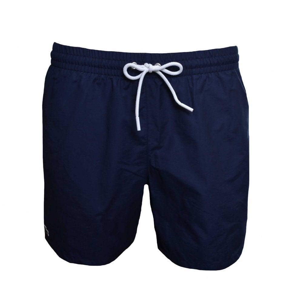520db9fd4b Lacoste Mens Taffetta Navy Blue Swimming Trunks