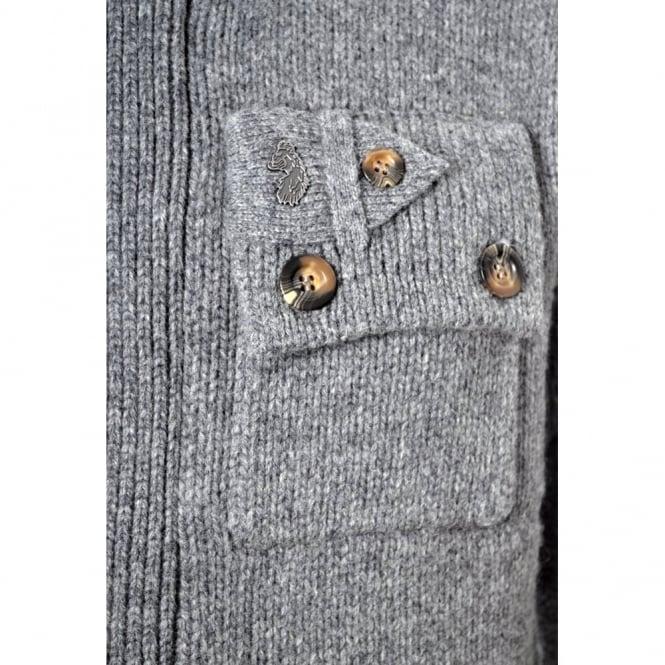 Luke 1977 Grey DoggyBarlow Chunky Knit Cardigan