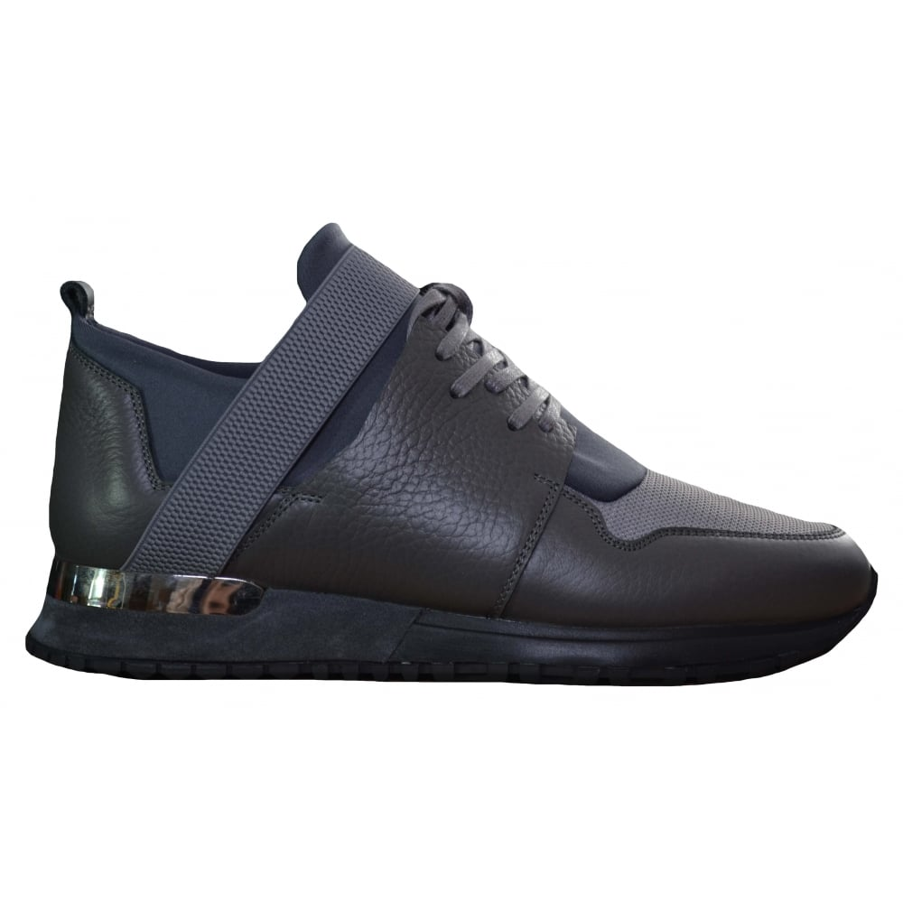 mallet mens grey trainers