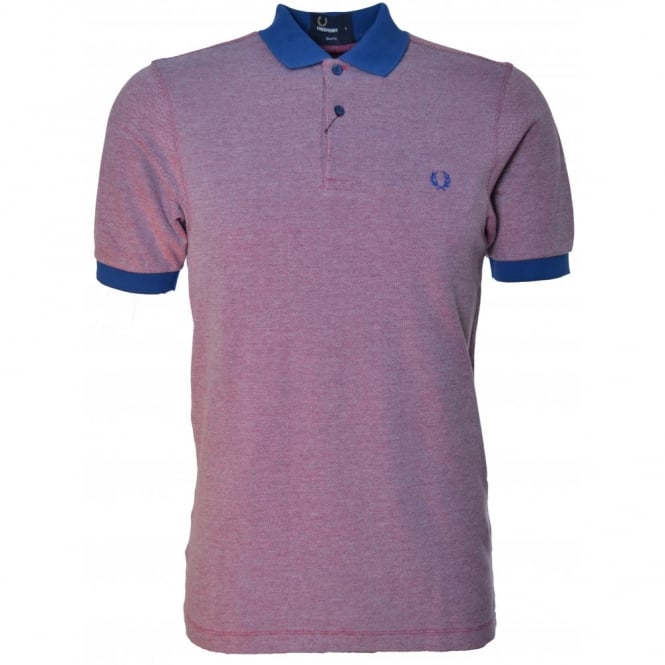 Fred Perry Men's Royal Tonic Tipped Slim Fit Polo Shirt
