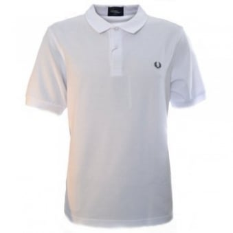 Men's Fred Perry White Slim Fit Polo Shirt