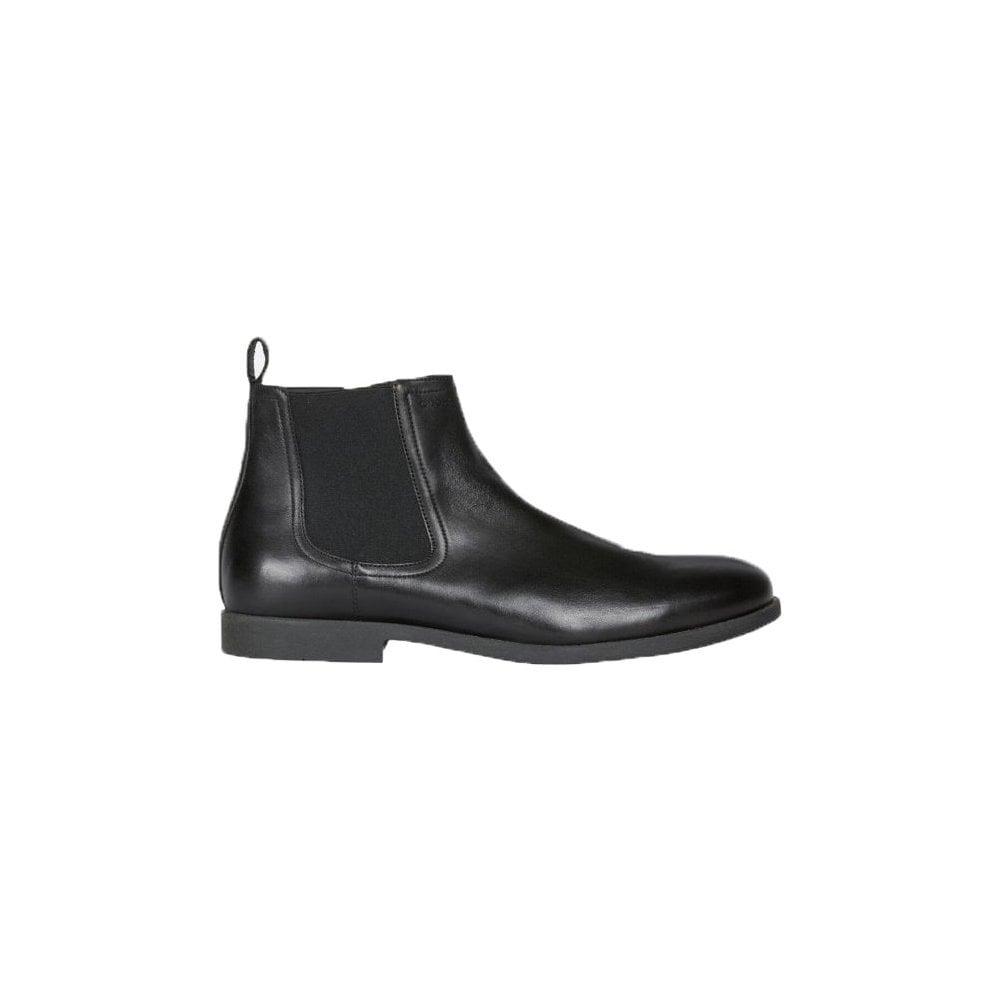 compañero Espejismo Isaac  geox kaspar black leather ankle boot
