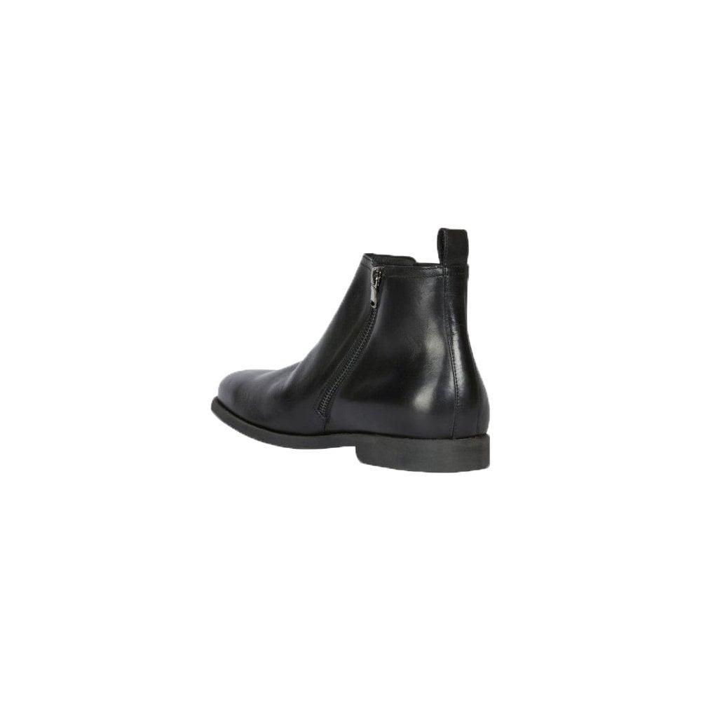 cocodrilo sátira responder  geox kaspar black leather ankle boot