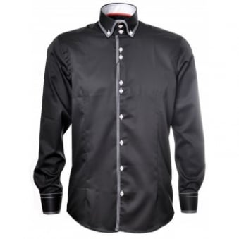 Men's Guide London Black Long Sleeve Shirt