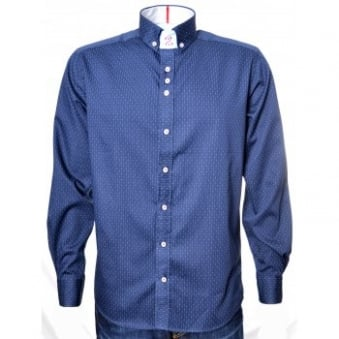 Men's Guide London Navy Blue Long Sleeve Shirt