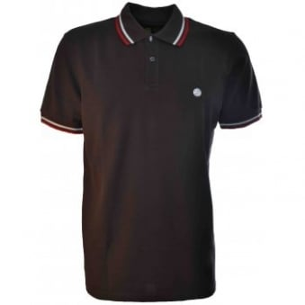 Men's Pretty Green Chocolate Cont Polo Shirt