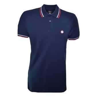 Men's Pretty Green Navy Blue Short Sleeve Polo Shirt
