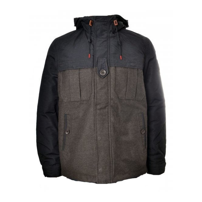 Replay Men's Brown And Black Winter Jacket