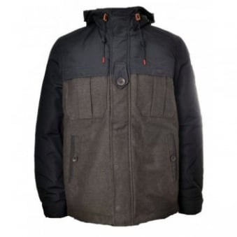 Men's Replay Brown And Black Winter Jacket