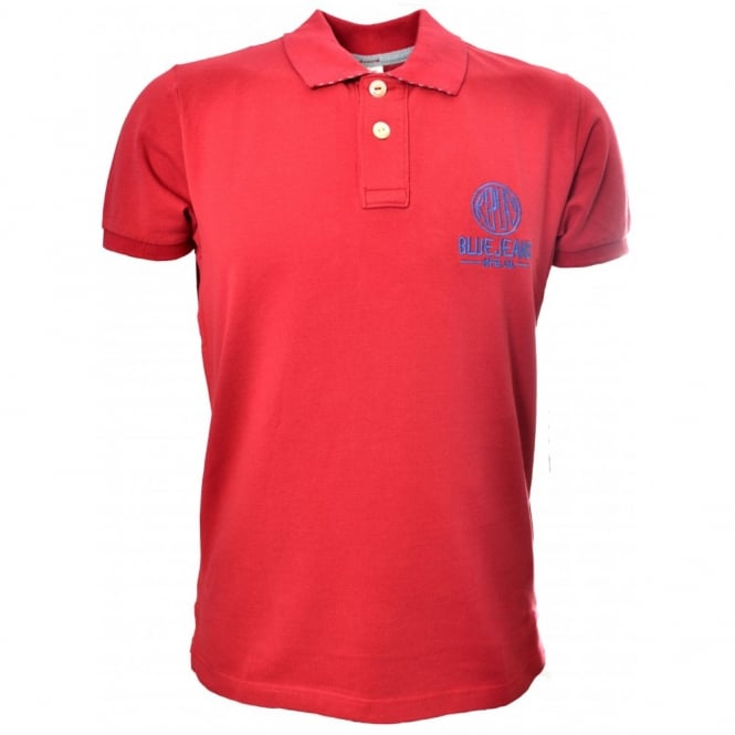 5dfe4548416f men s replay red polo shirt