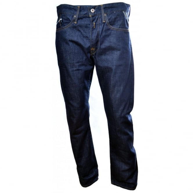 Replay Men's Waitom Dark Blue 12.5 oz Denim Jeans
