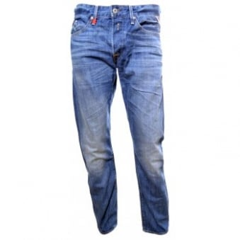 Men's Replay Waitom Deep Blue Slim Fit Jeans
