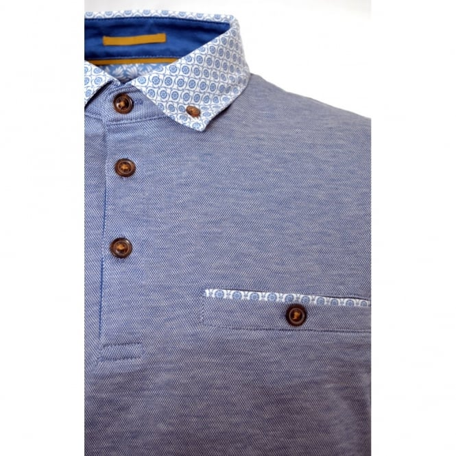 0652340ab2dc3 men s ted baker light blue delrey woven collar polo shirt