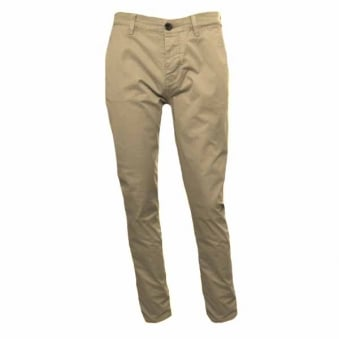 Pretty Green Men's Aldwyn Slim Fit Sand Chino's