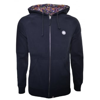 Pretty Green Men's Black Raynham Hooded Zip Through Sweatshirt