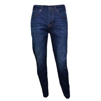 Pretty Green Men's Blue Erwood Slim Fit Jeans