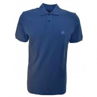 Pretty Green Men's Blue Marl Albion Polo Shirt