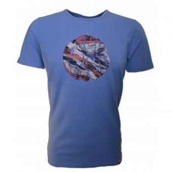 Pretty Green Mens Blue Union Jack T-Shirt
