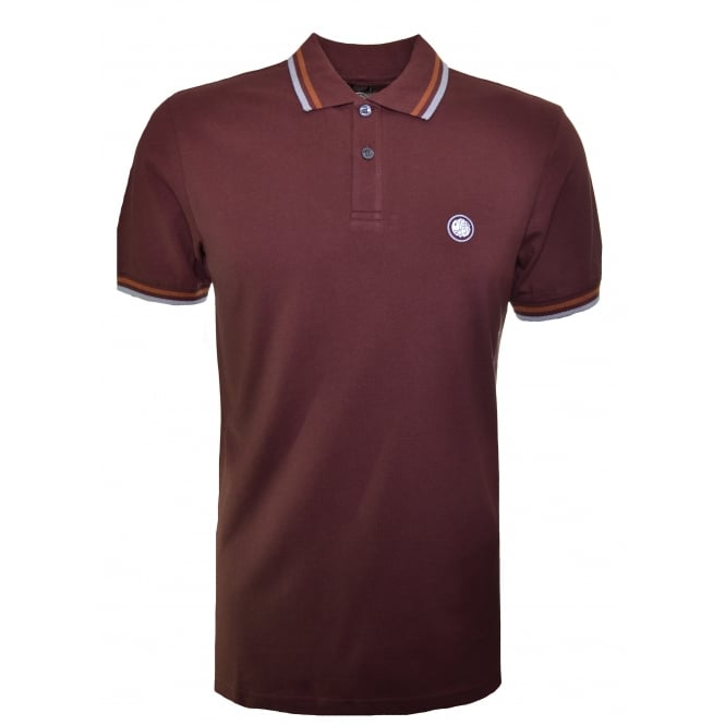 Pretty Green Men's Burgundy Polo Shirt