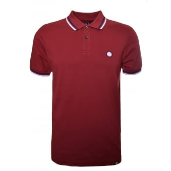 Pretty Green Men's Dark Red Polo Shirt
