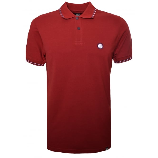 Pretty Green Men's Elmwood Dark Red Polo Shirt