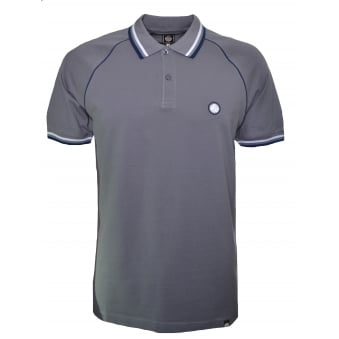 Pretty Green Men's Fairview Raglan Charcoal Grey Polo Shirt