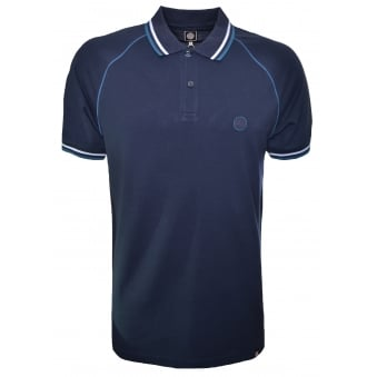 Pretty Green Men's Fairview Raglan Dark Navy Polo Shirt