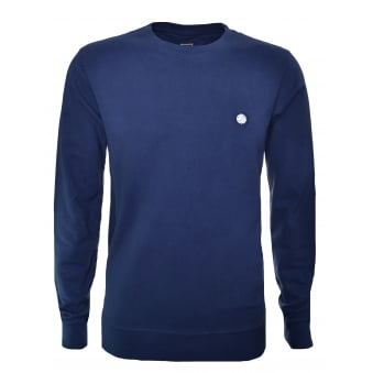 Pretty Green Men's Foxlair Navy Blue Sweatshirt