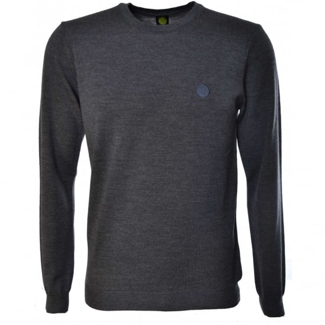 Pretty Green Mens Grey Mosley Jumper