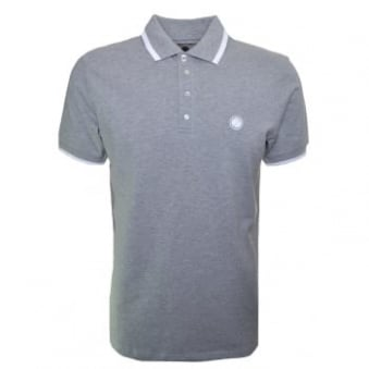 Pretty Green Men's Grey Short Sleeve Polo Shirt