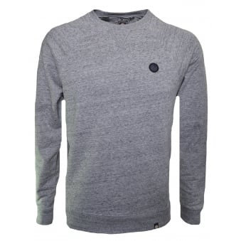 Pretty Green Men's Marlowe Grey Marl Sweatshirt