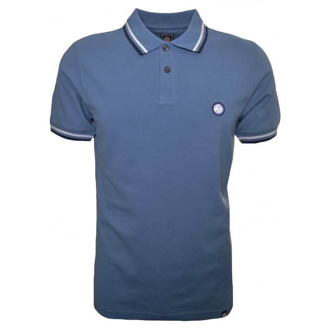 Pretty Green Men's Mid Blue Polo Shirt