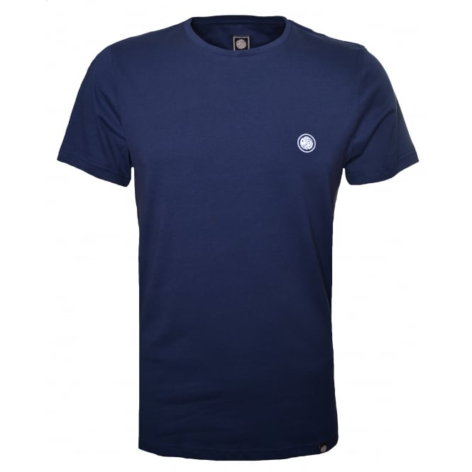 Pretty Green Men's Navy Blue Crew Neck T-Shirt