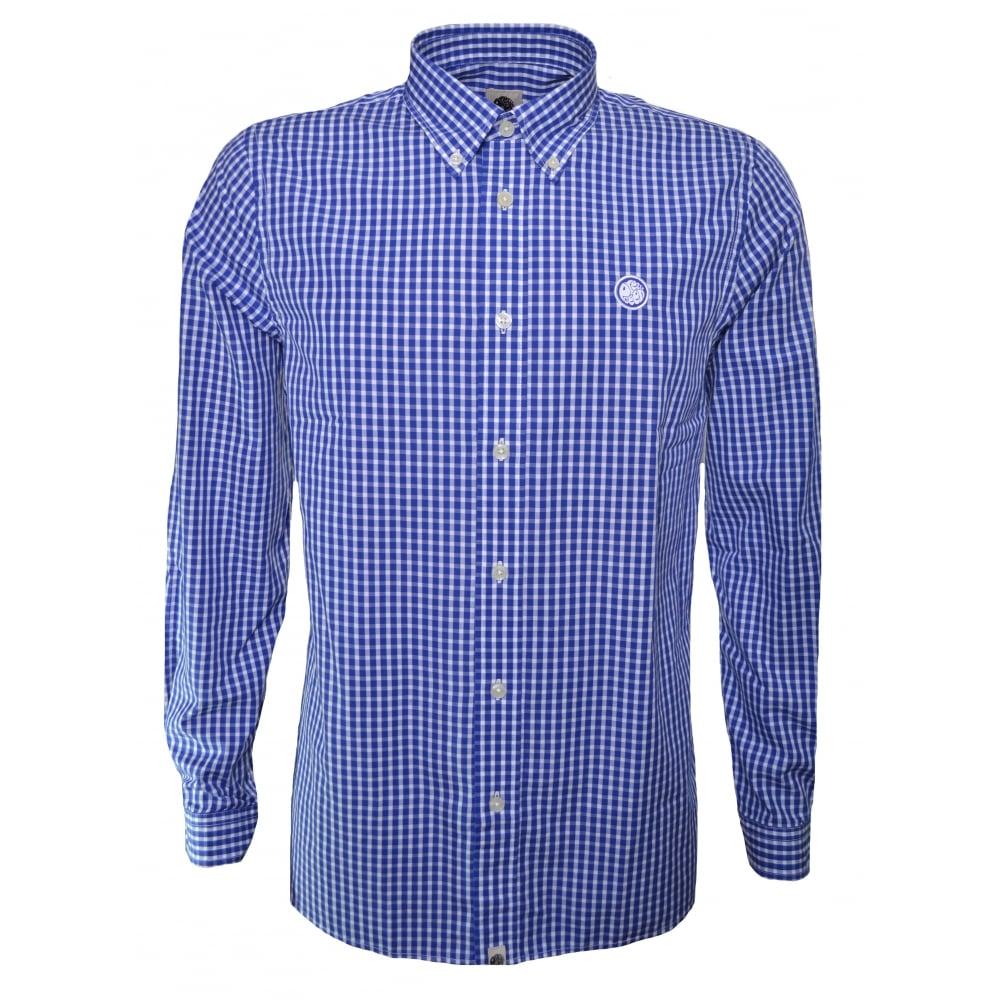 Pretty Green Men 39 S Navy Blue Long Sleeve Shirt