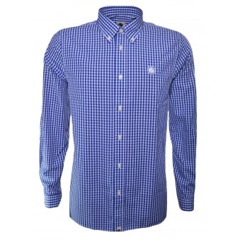 Shirts for Navy blue gingham shirt