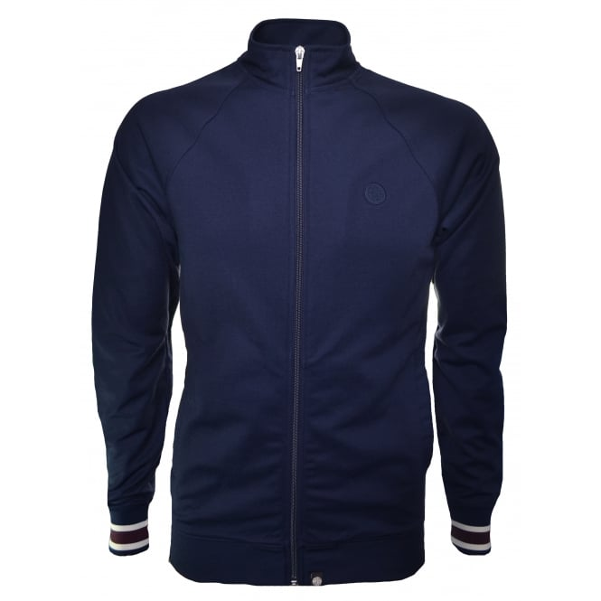 Pretty Green Men's Navy Blue Forston Track Jacket