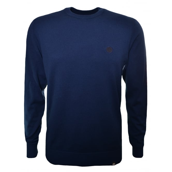 Pretty Green Men's Navy Blue Mandeville Jumper
