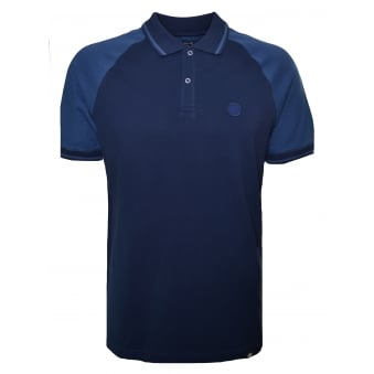 Pretty Green Men's Navy Blue Wilton Polo Shirt