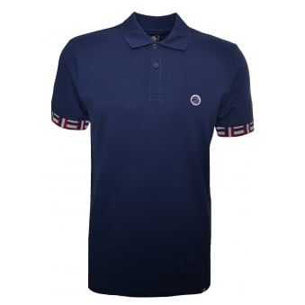 Pretty Green Men's Navy Plecteom Polo Shirt