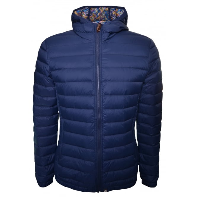 Pretty Green Men's Pembrook Navy Blue Quilted Jacket